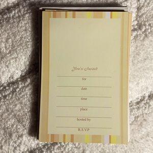 19-pk of invitation cards